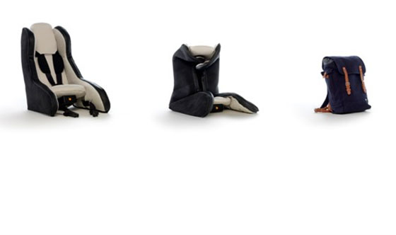 Volvo Inflatable Child Seat Concept: three stages