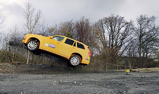 The art of turning an amusement park ride into a run-off road test at Volvo Cars Safety Centre