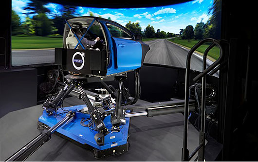 Volvo Cars uses the world's most advanced chassis simulator to develop the next generation of its cars