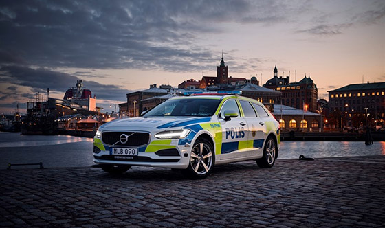 Swedish police first to use V90 estate as a police car, other countries also targeted