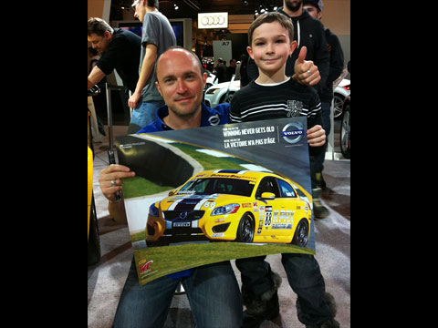 Canadian driver Aaron Povoldeo on hand for Family Day at CIAS