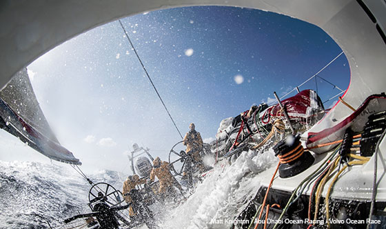 MAPFRE 'sailing blind'