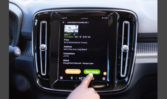 Volvo Cars announces ChargePoint in-car app