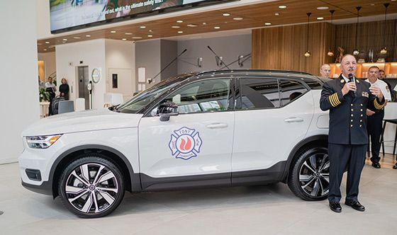 Volvo Car USA provides XC40 Recharge to the NYCFD